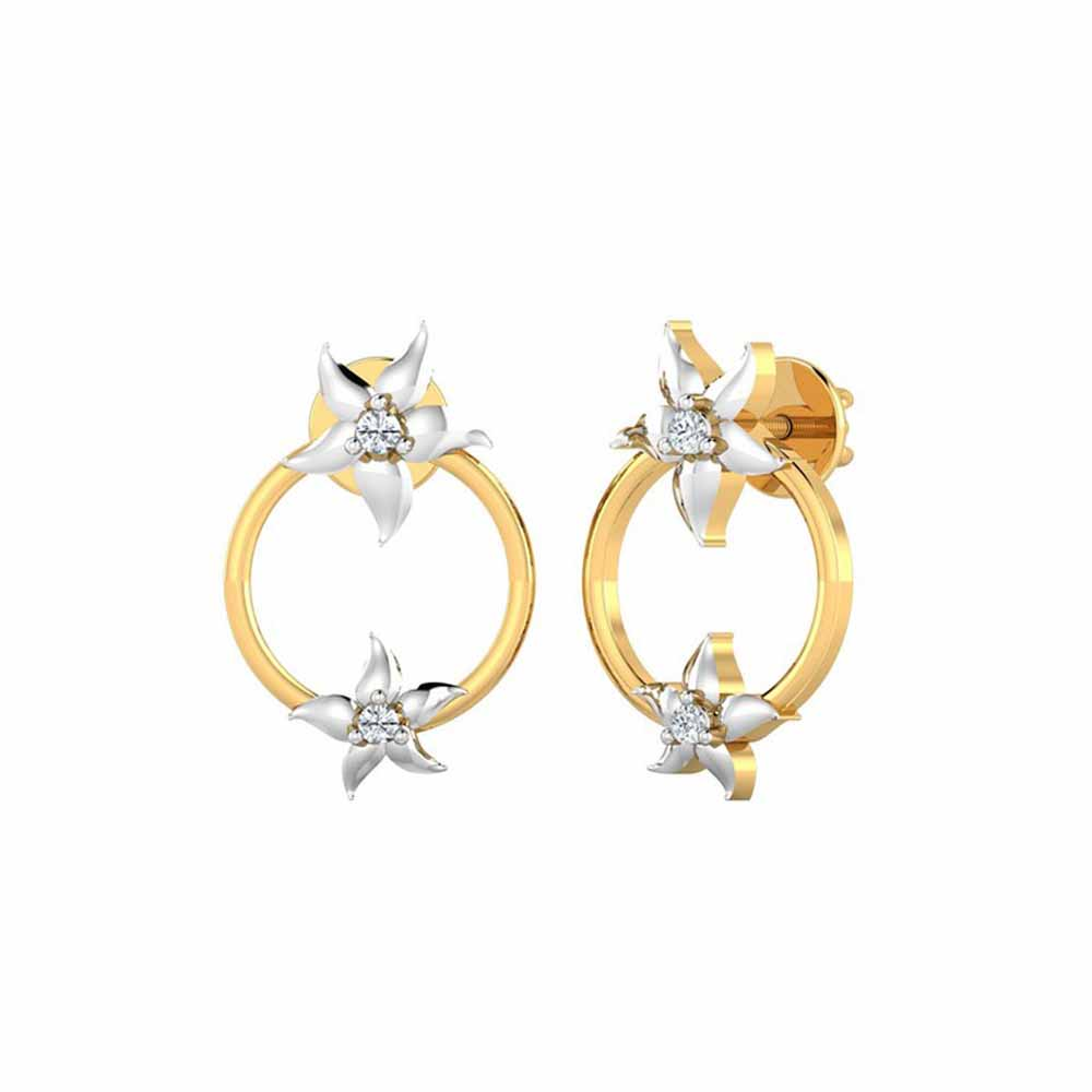 Enchanting 0.04Ct Diamond Studs