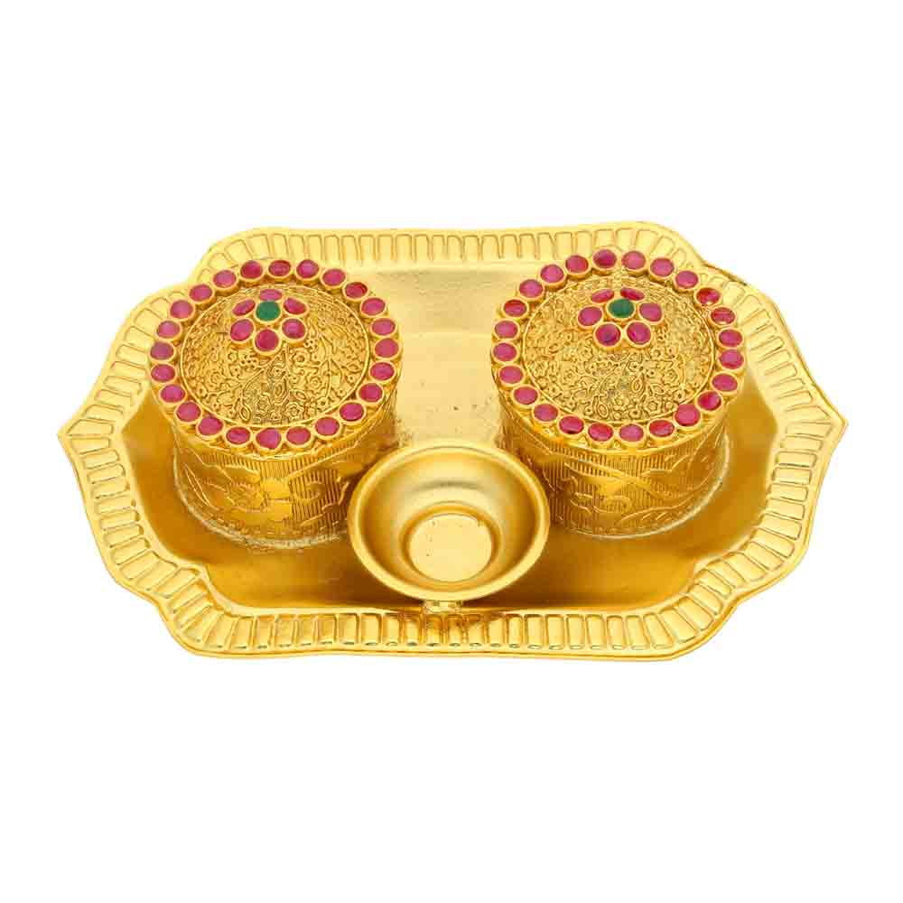 Kumkum Box Thali Hamper