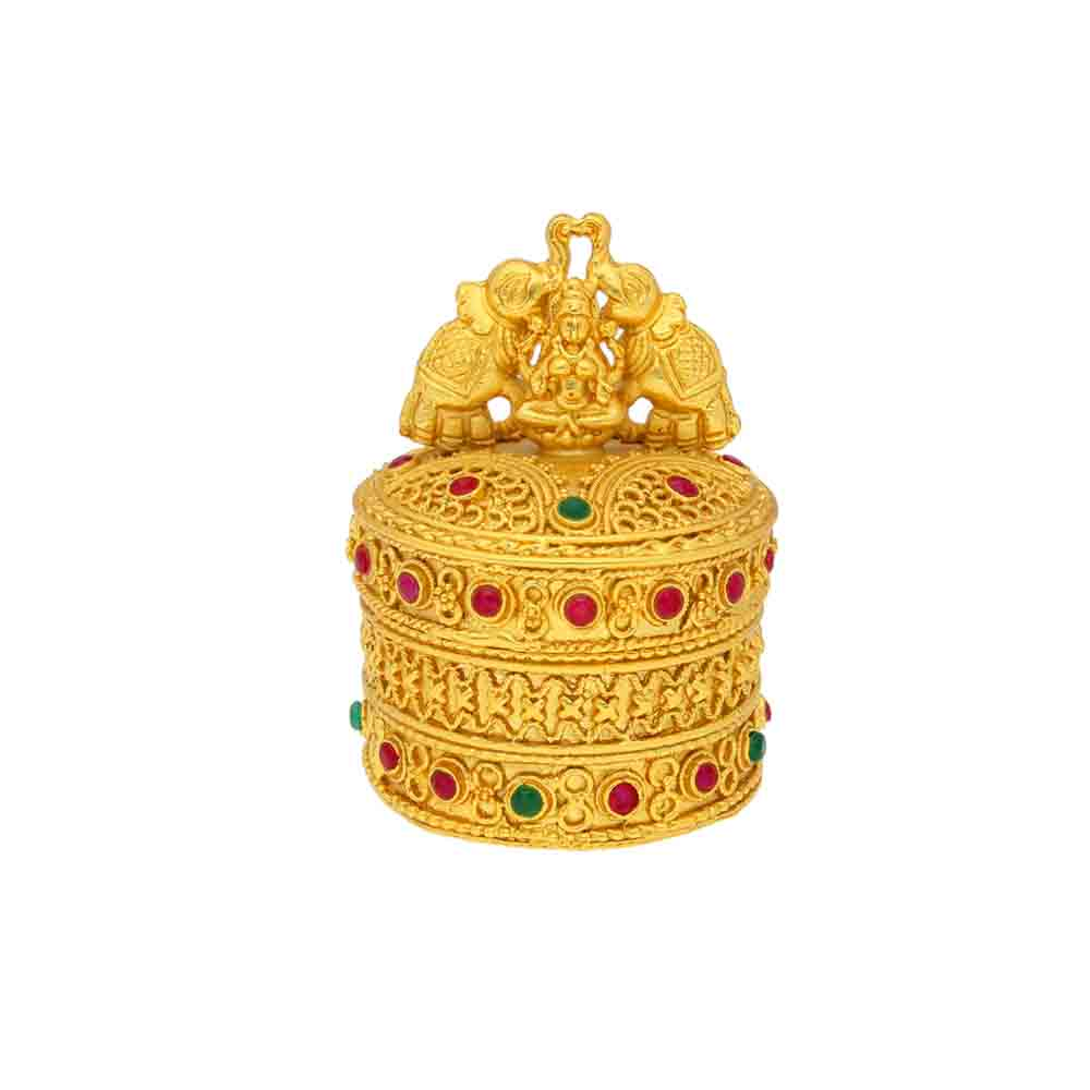 Golden Lakshmi Kumkum Box