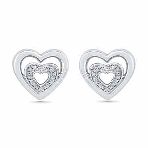 Diamond Earrings-Heart Beat Diamond Earring