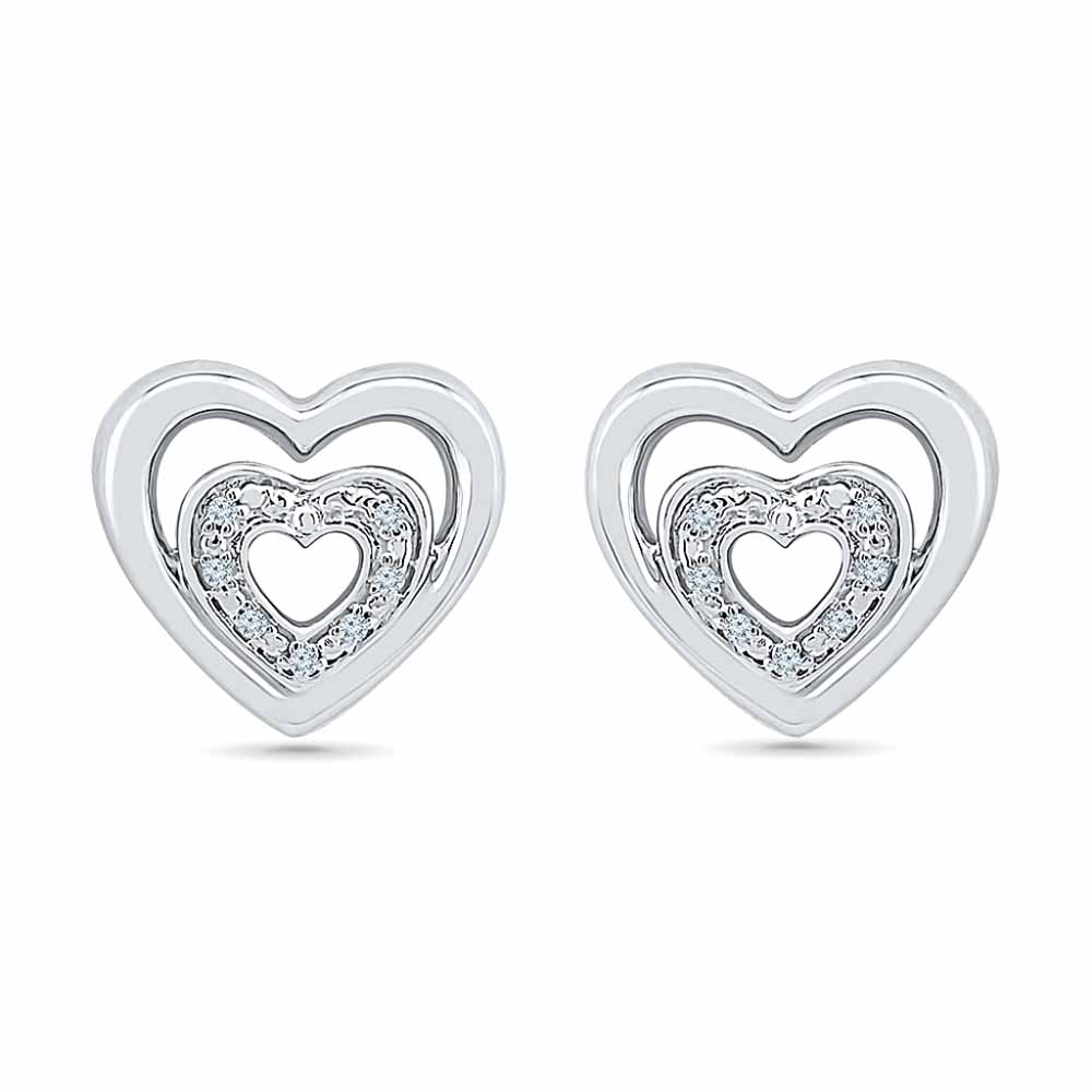 Heart Beat Diamond Earring
