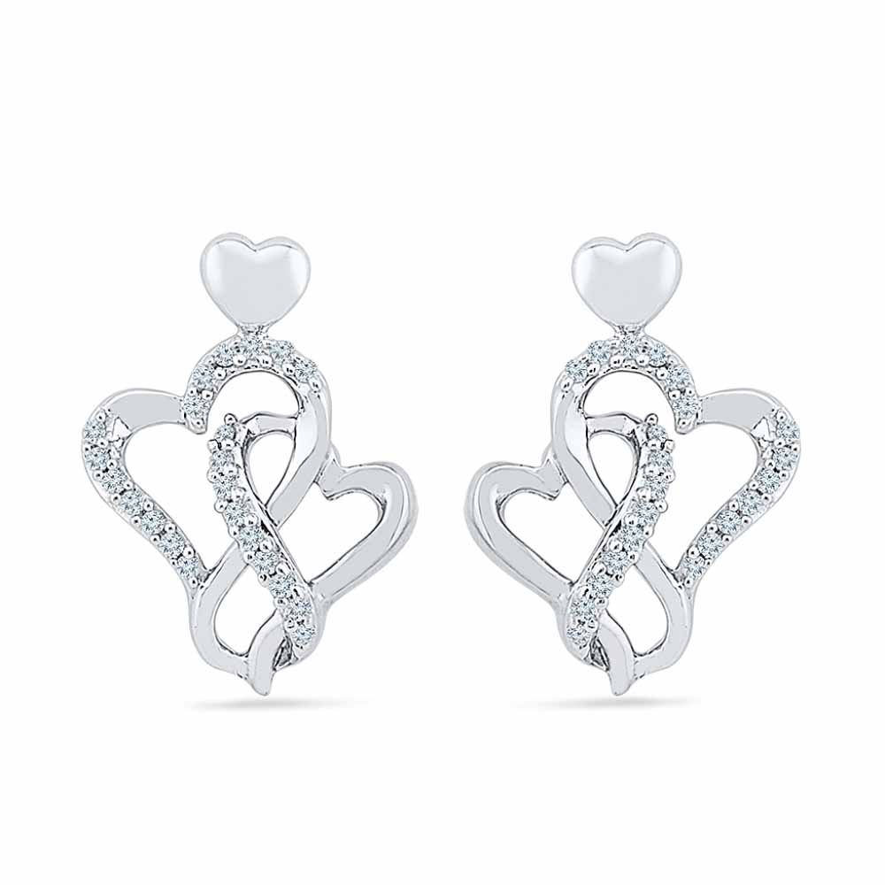 Hottie Heart Diamond Earring