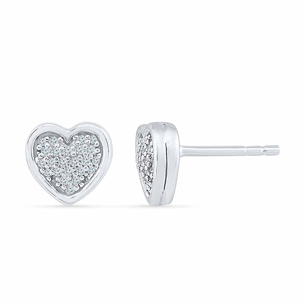 Love Heart Diamond Earring