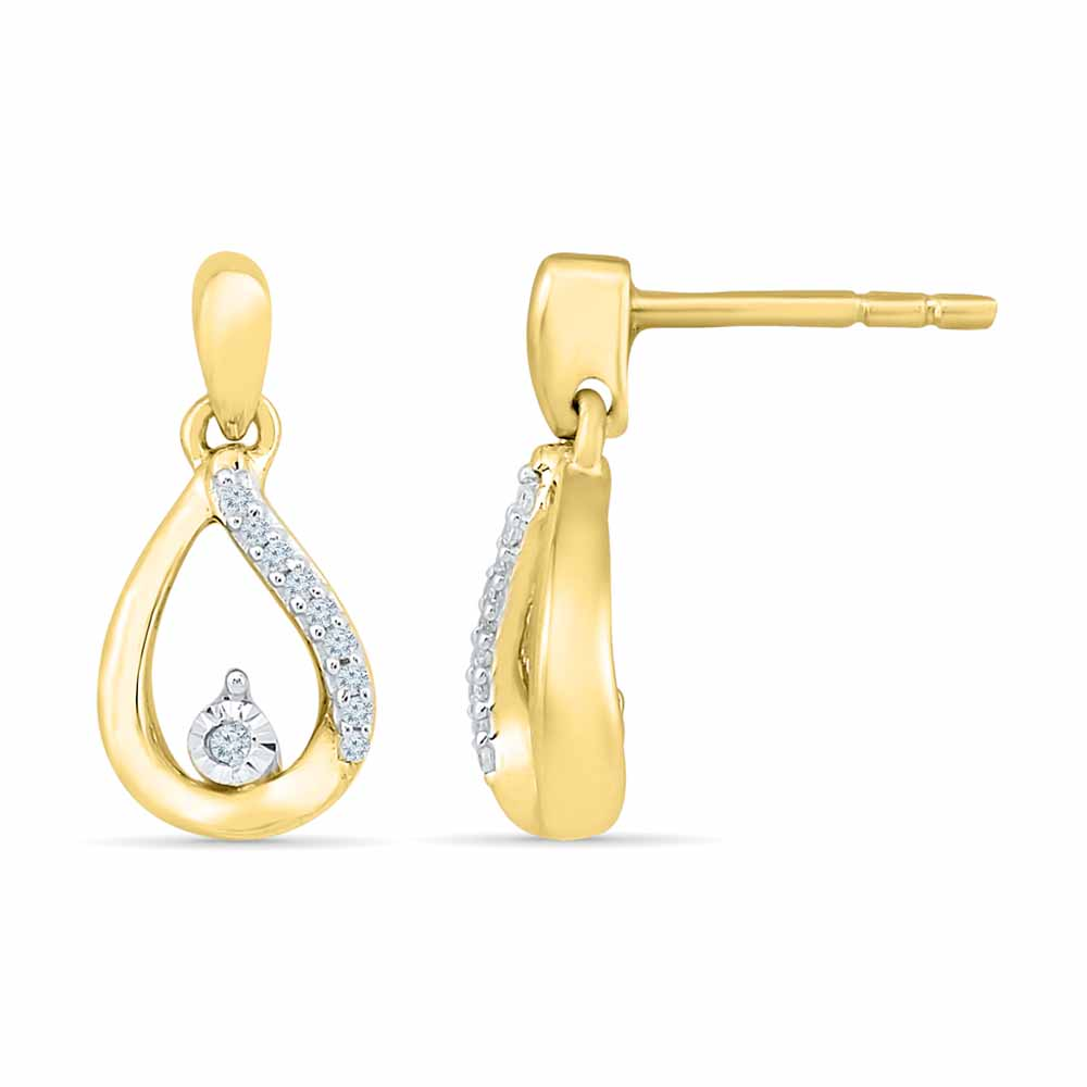 Coriandrum Diamond Earring