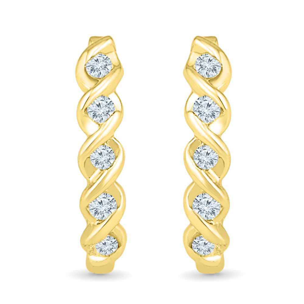 Flower Diamond Earring