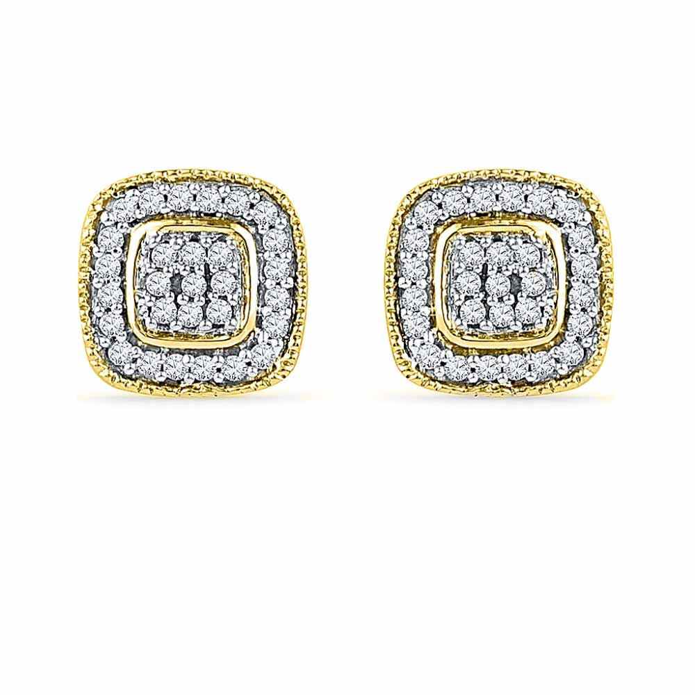 Square Shape Diamond Studs