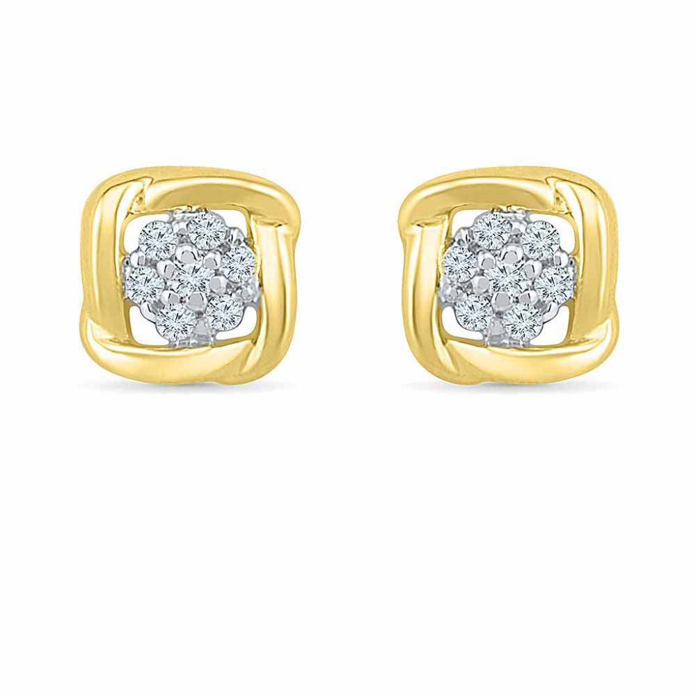 Square Sparkle Diamond Studs