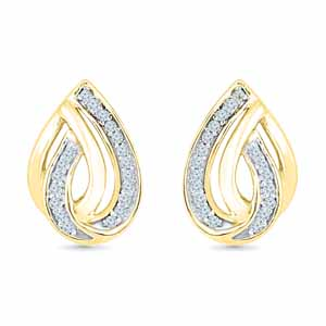 Diamond Earrings-Shining Diamond Earrings