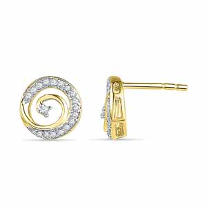 Diamond Earrings-18 Kt Gold Noble Diva Diamond Earrings