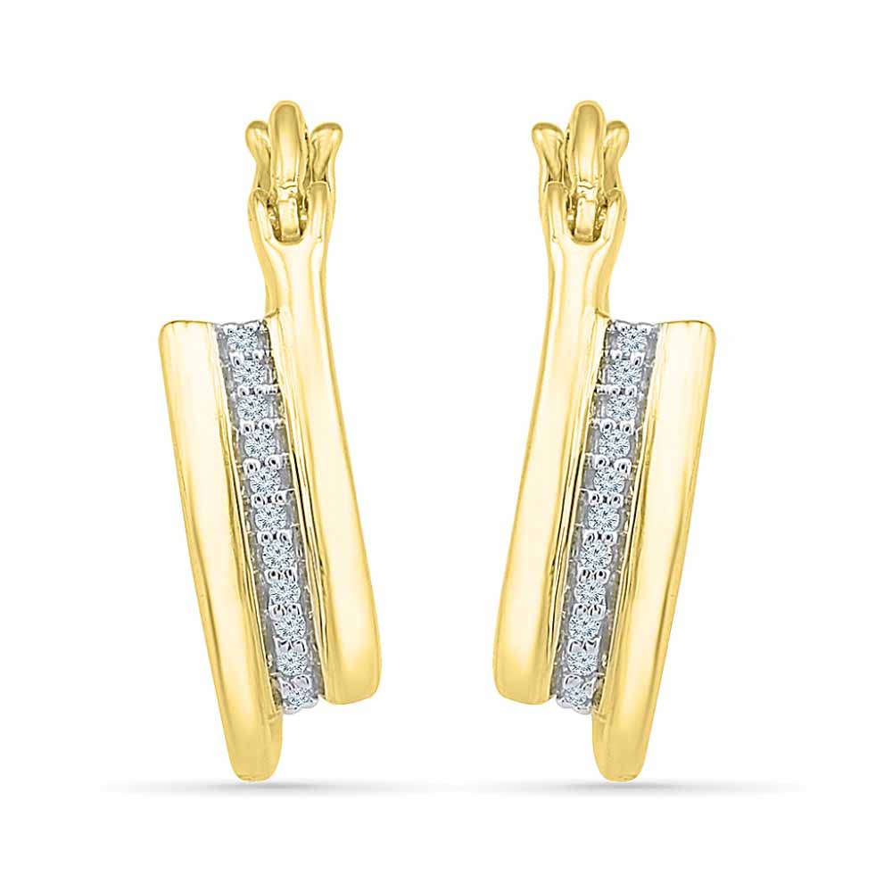18Kt Gold Blossom Diamond Earrings
