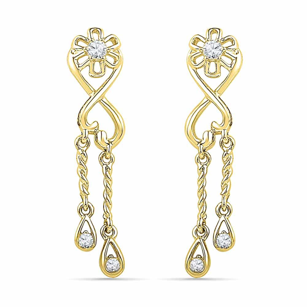 18 Kt Gold Love Forever Diamond Earrings