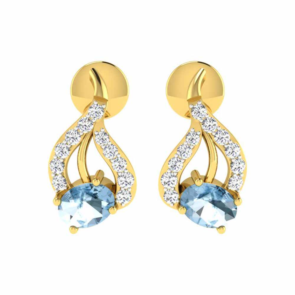 Tazara 0.12Ct Diamond Earrings