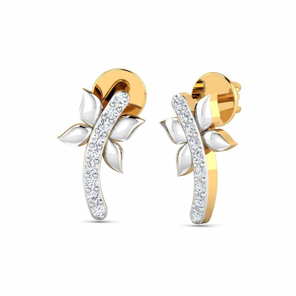 Alina 0.09Ct Diamond Earrings