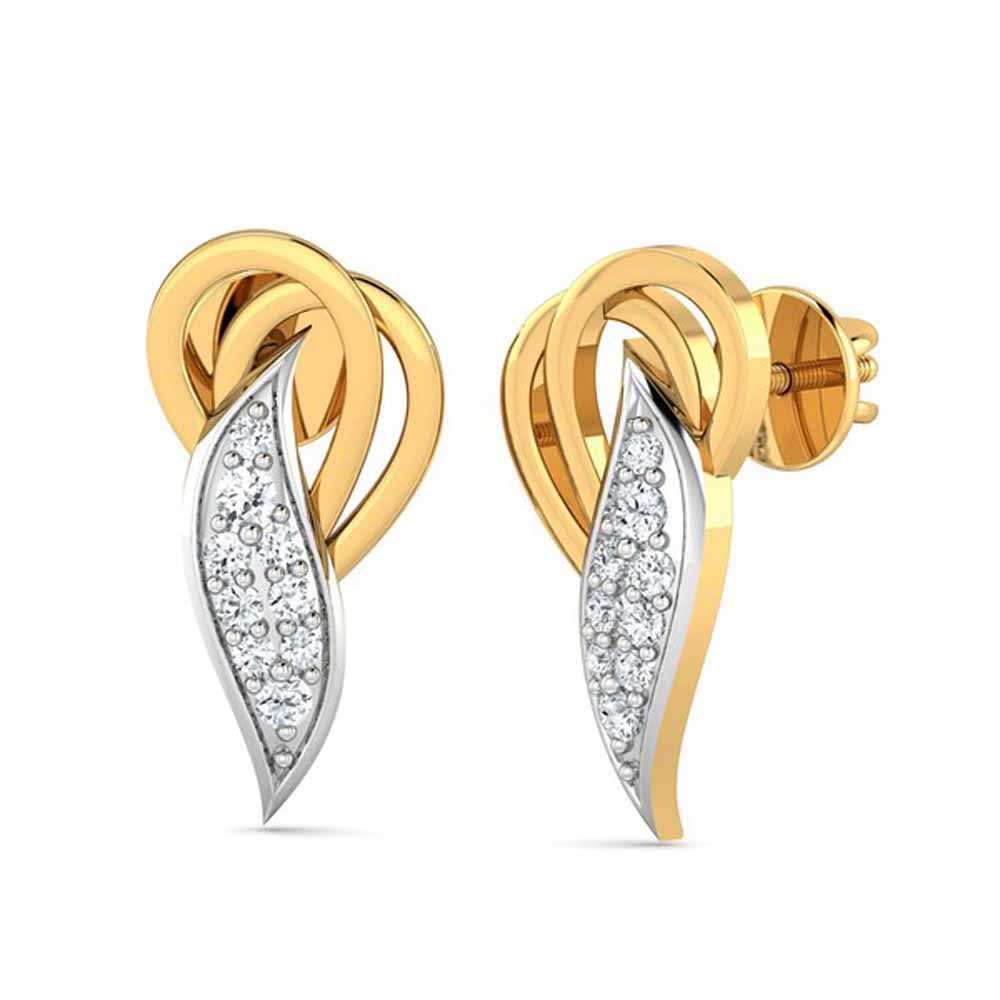 Delightful 0.12Ct Diamond Earrings