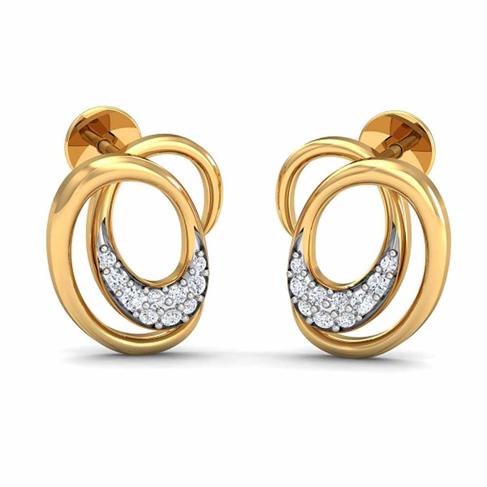 Enwrap 0.11Ct Diamond Earrings