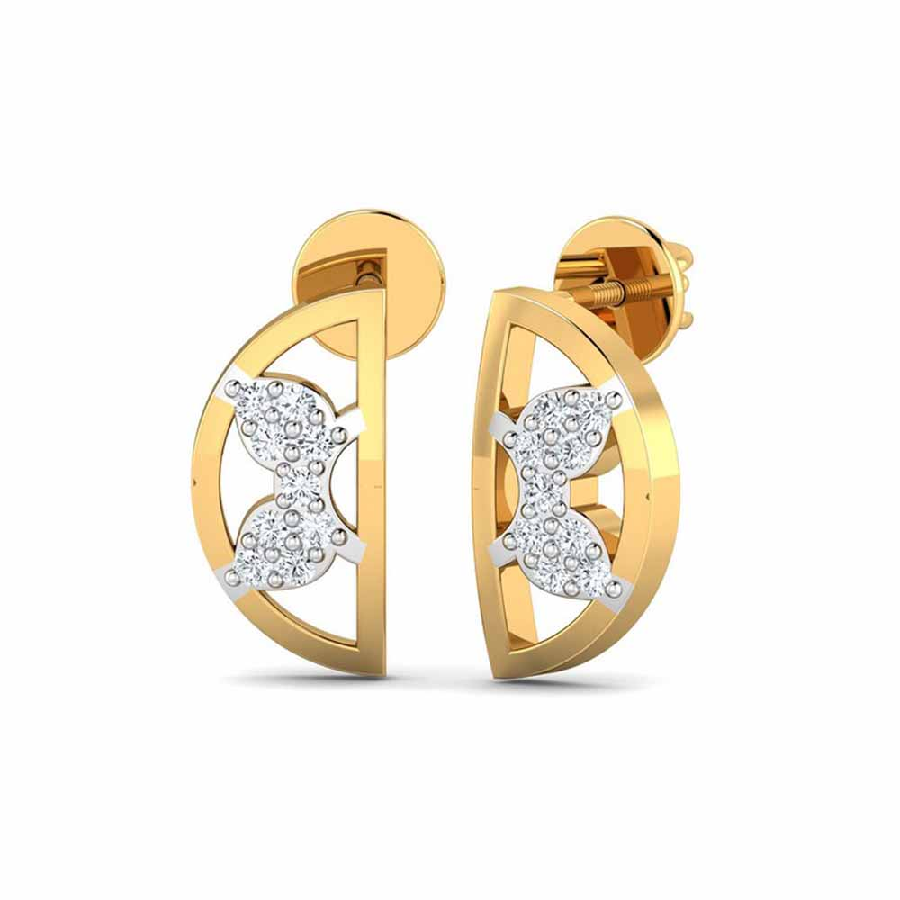 Groovy 0.11Ct Diamond Earrings