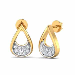 Diamond Earrings-Ritzy 0.09Ct Diamond Earrings