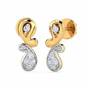 Diamond Earrings-Gulnaz 0.10Ct Diamond Earrings