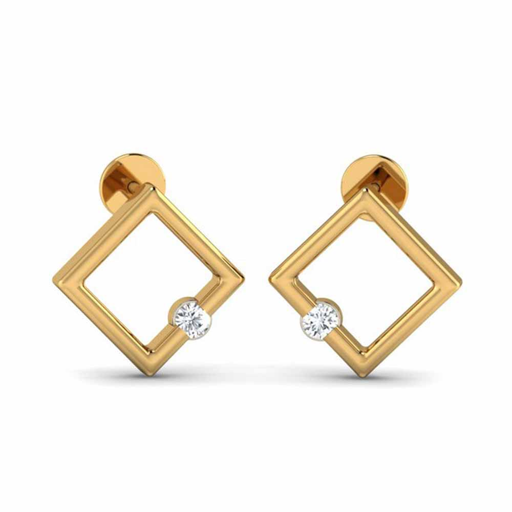 Diamond Earrings-Saara 0.08Ct Diamond Earrings