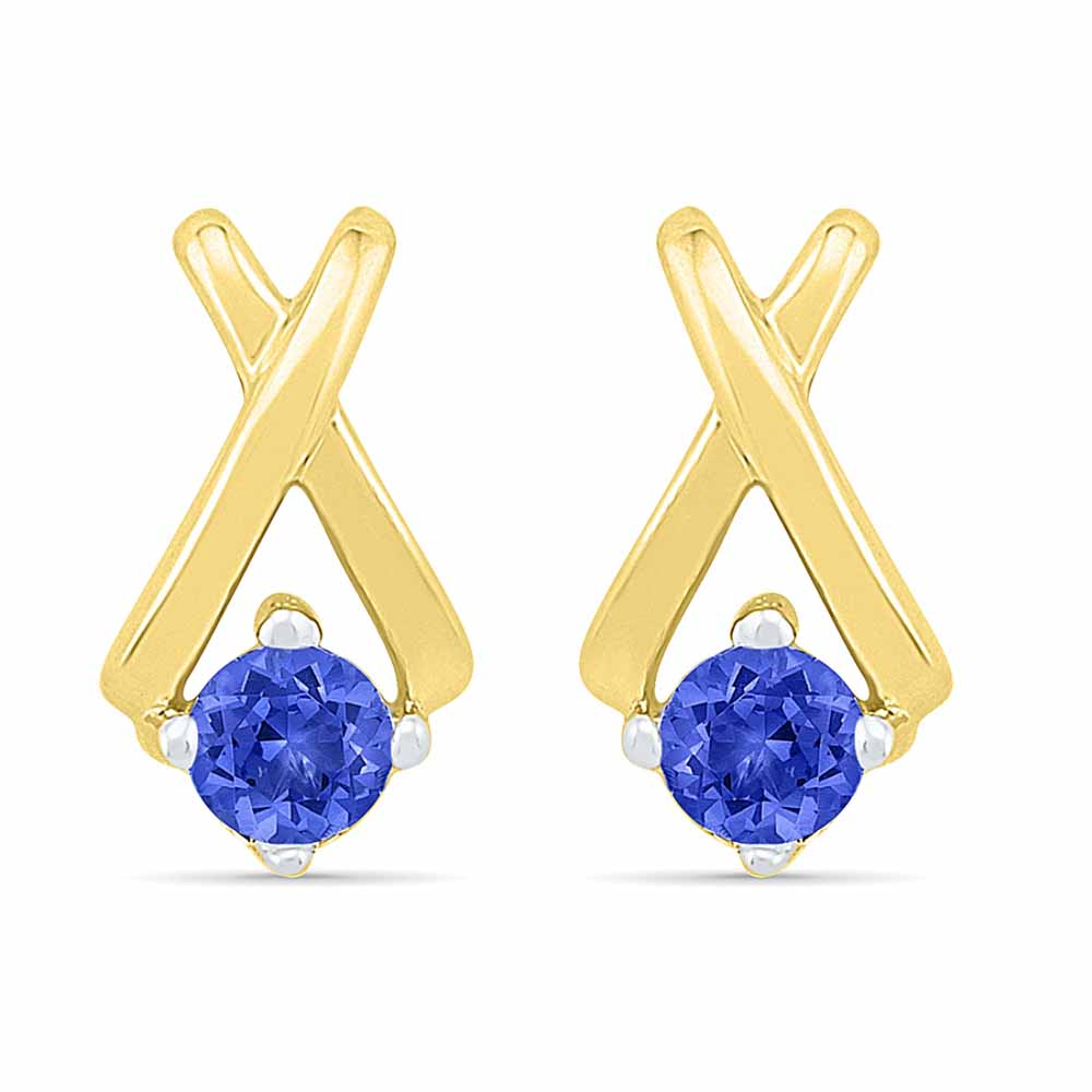 Spectacular Blue Sapphire Earrings