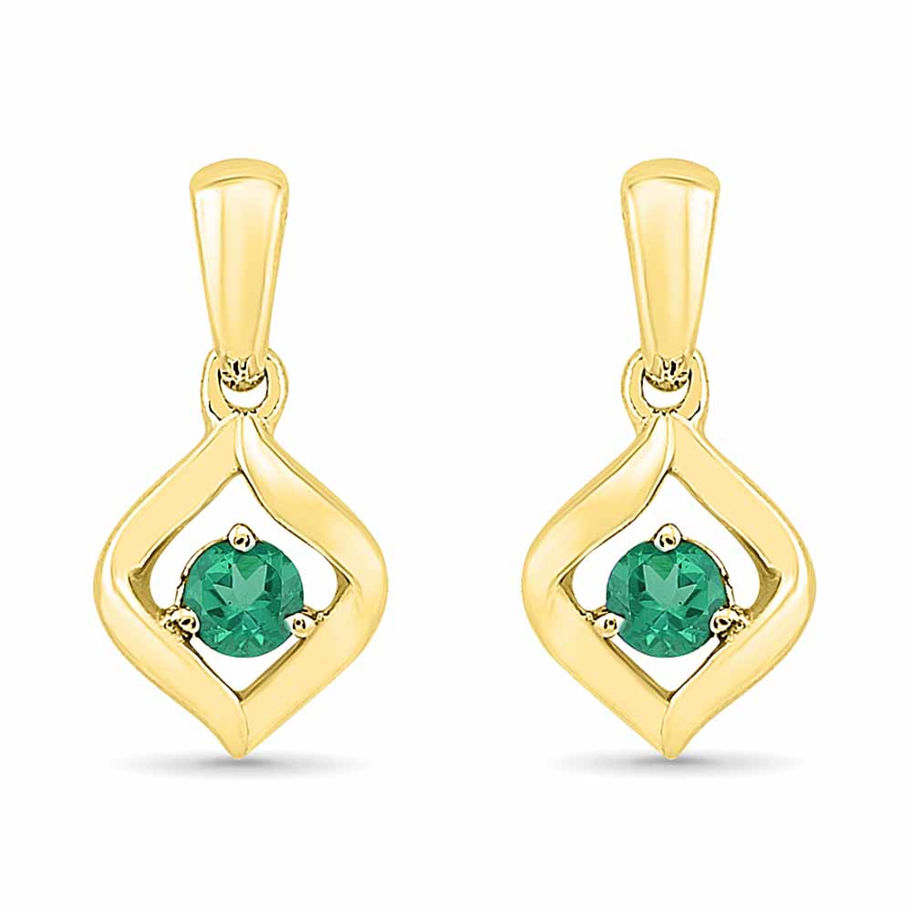 Diamond Earrings-Emerald Earrings
