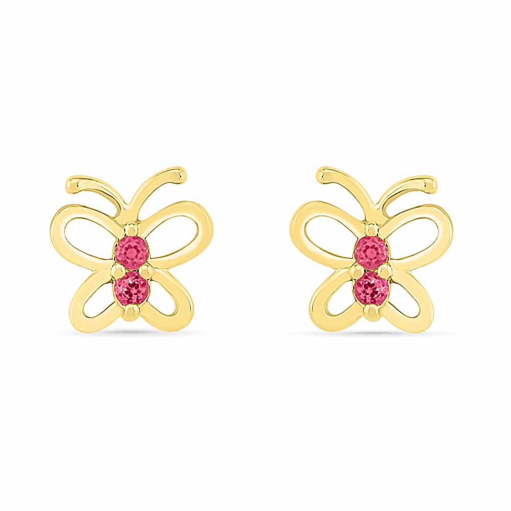 Butterfly Ruby Earrings