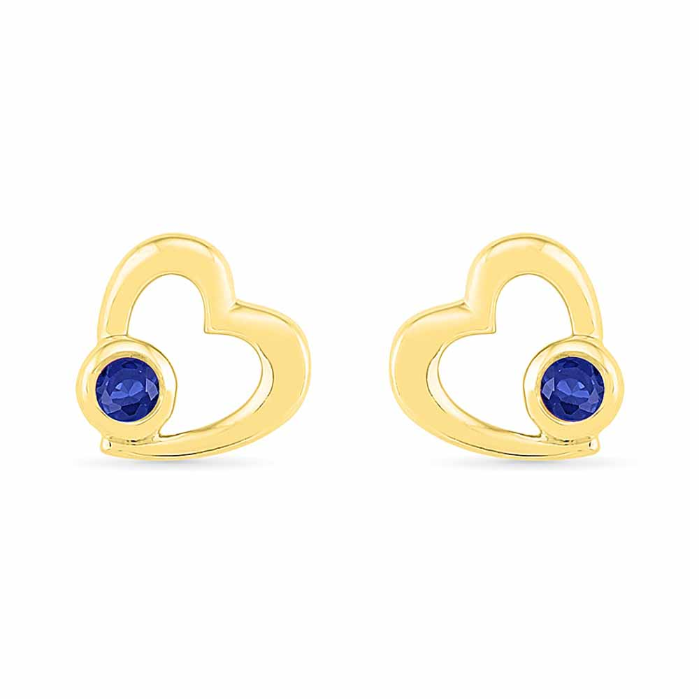 Valentine Special Blue Sapphire Earrings