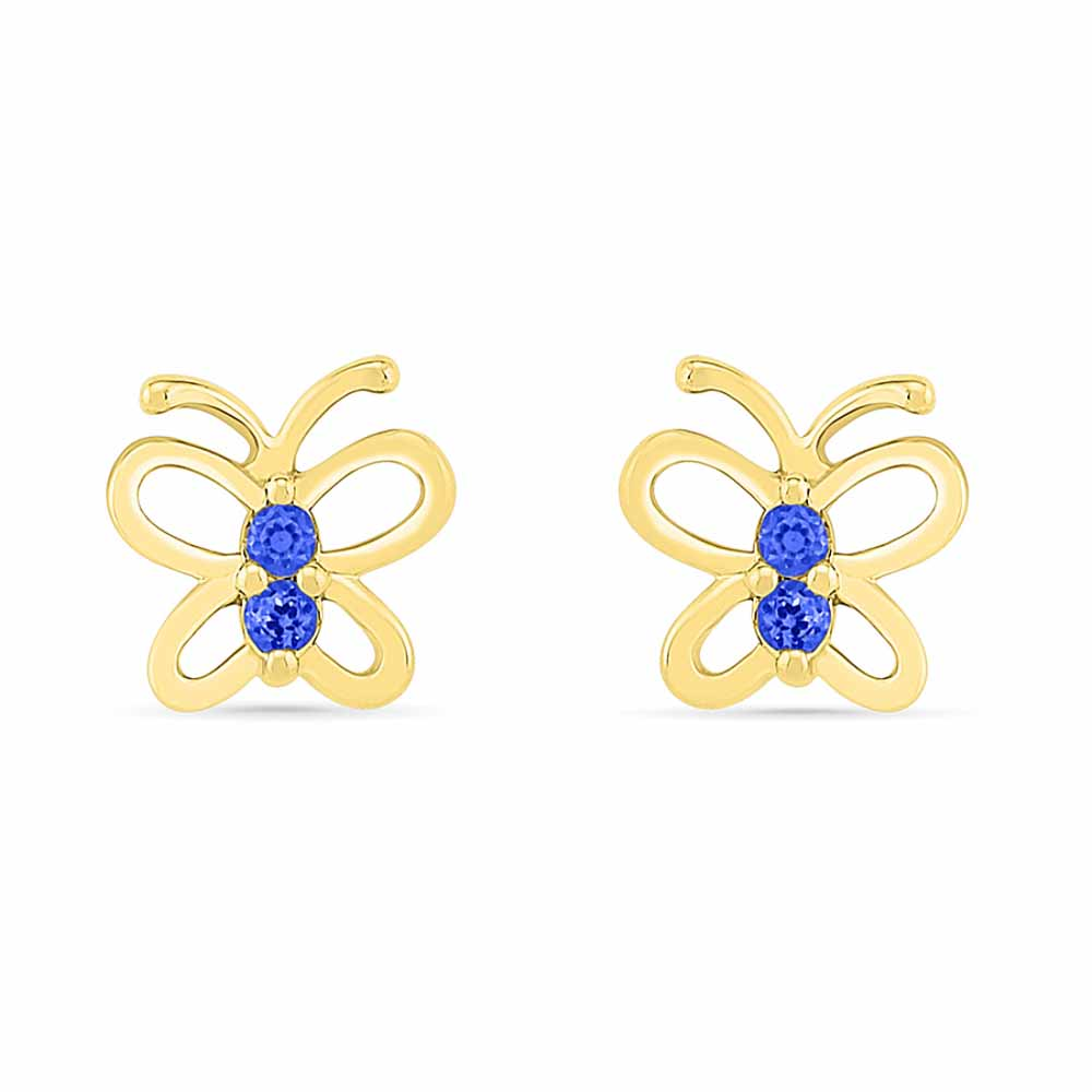Butterfly Blue Sapphire Earrings