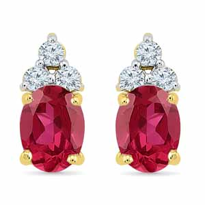 Diamond Earrings-Unbelievable Ruby Earrings