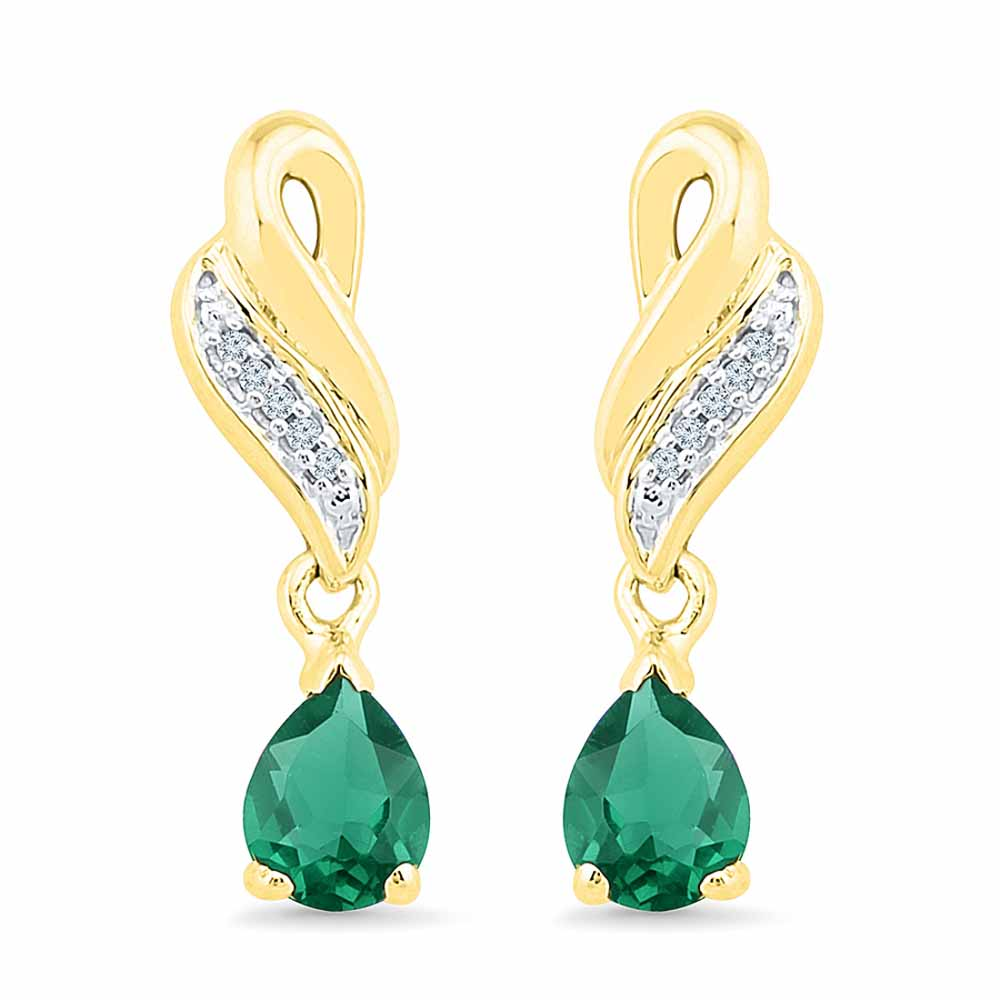 Stylish Emerald Earrings