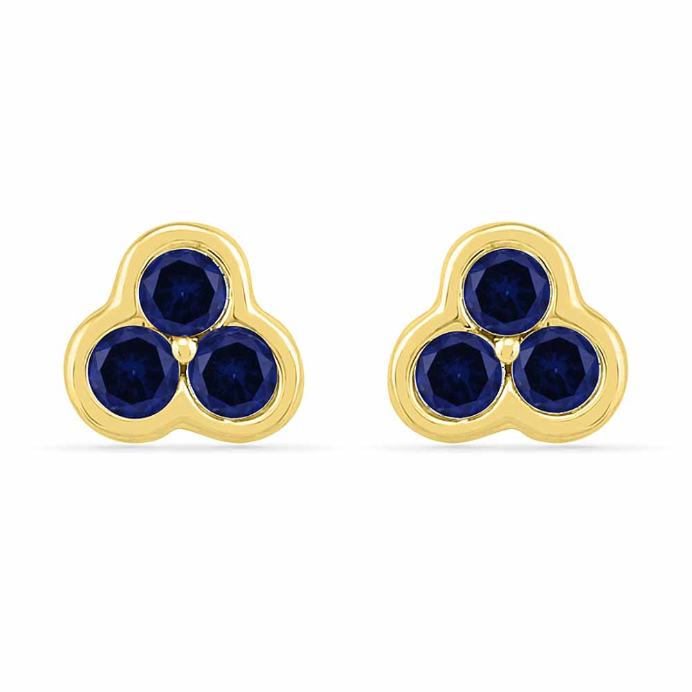 Spinner Blue Sapphire Earrings