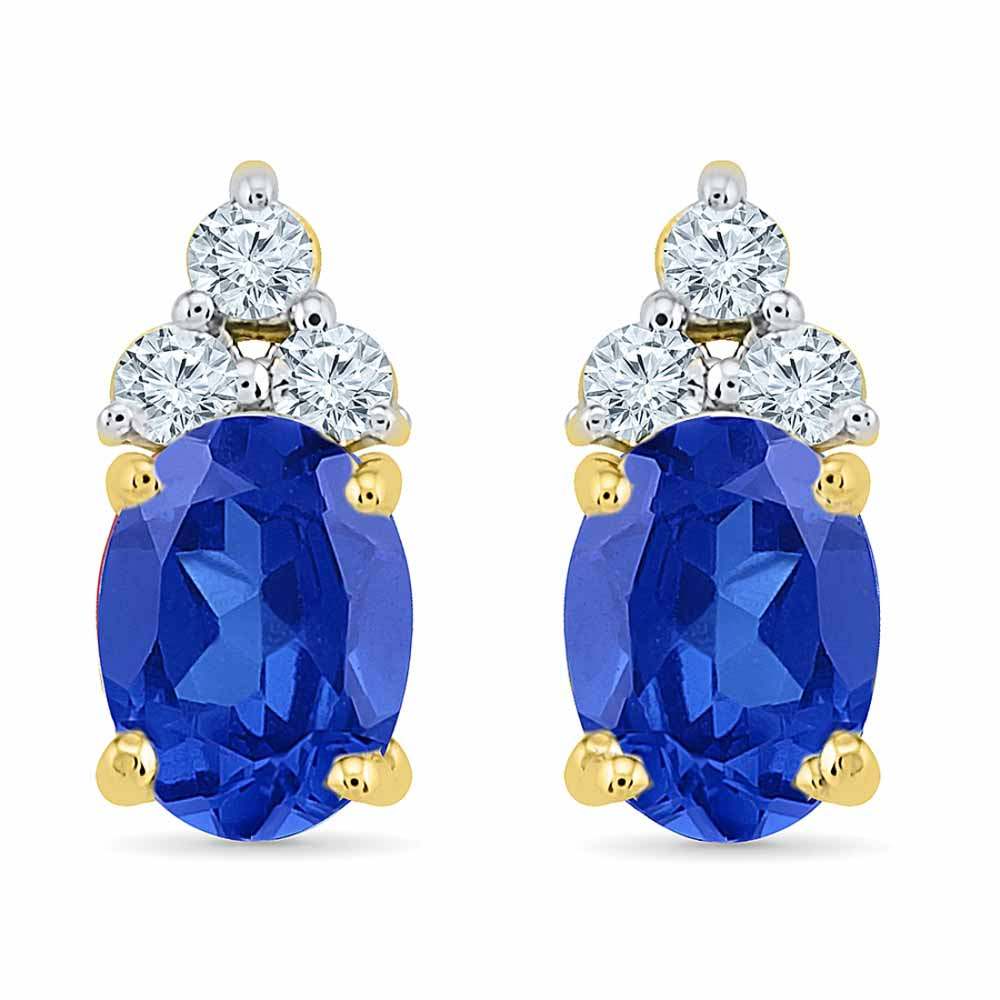 Smart Blue Sapphire Earrings