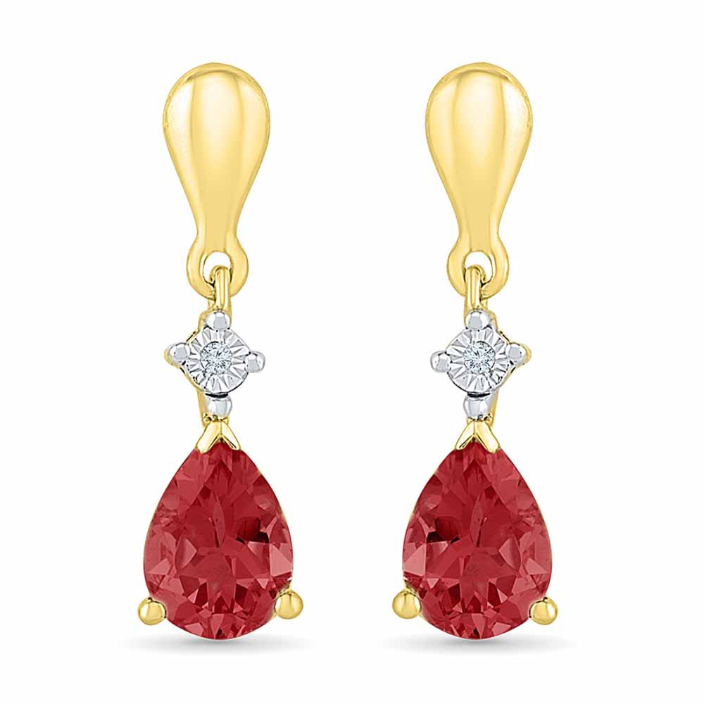 Sensation Ruby Earrings