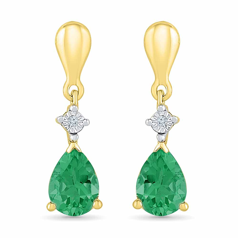 Sensation Emerald Earrings