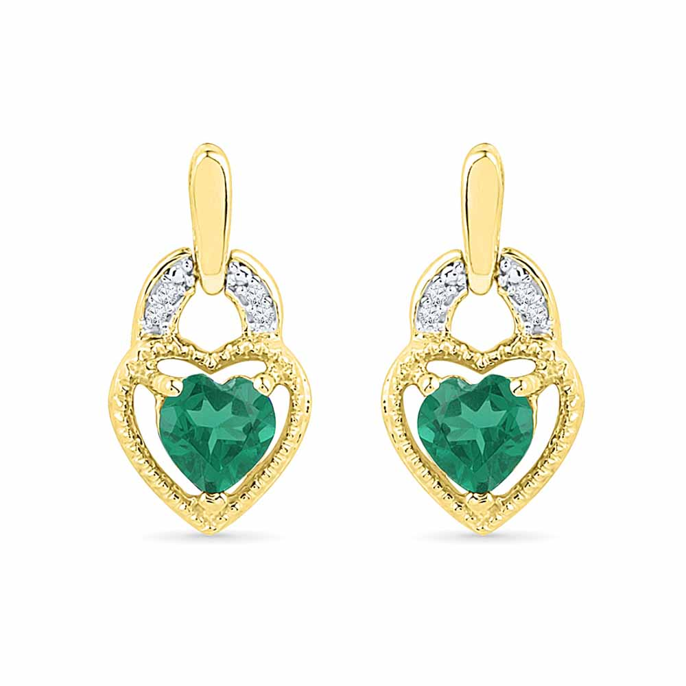 Happy Heart Diamond Earrings
