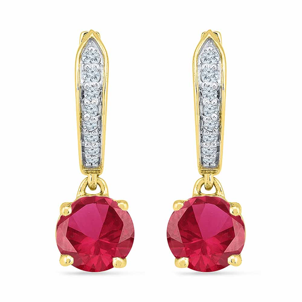 Superb Ruby Earrings