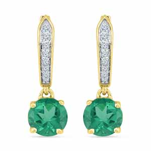 Diamond Earrings-Starling Emerald Earrings