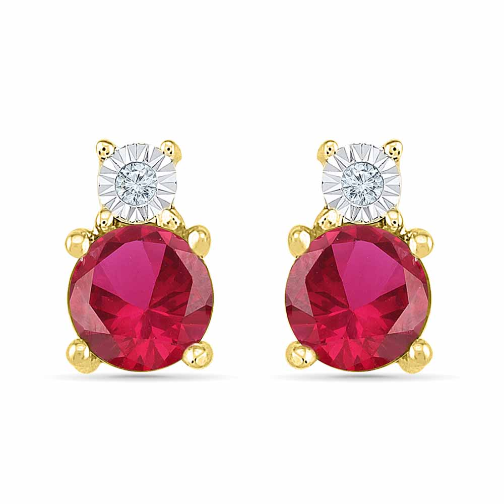 Exotic Ruby Earrings
