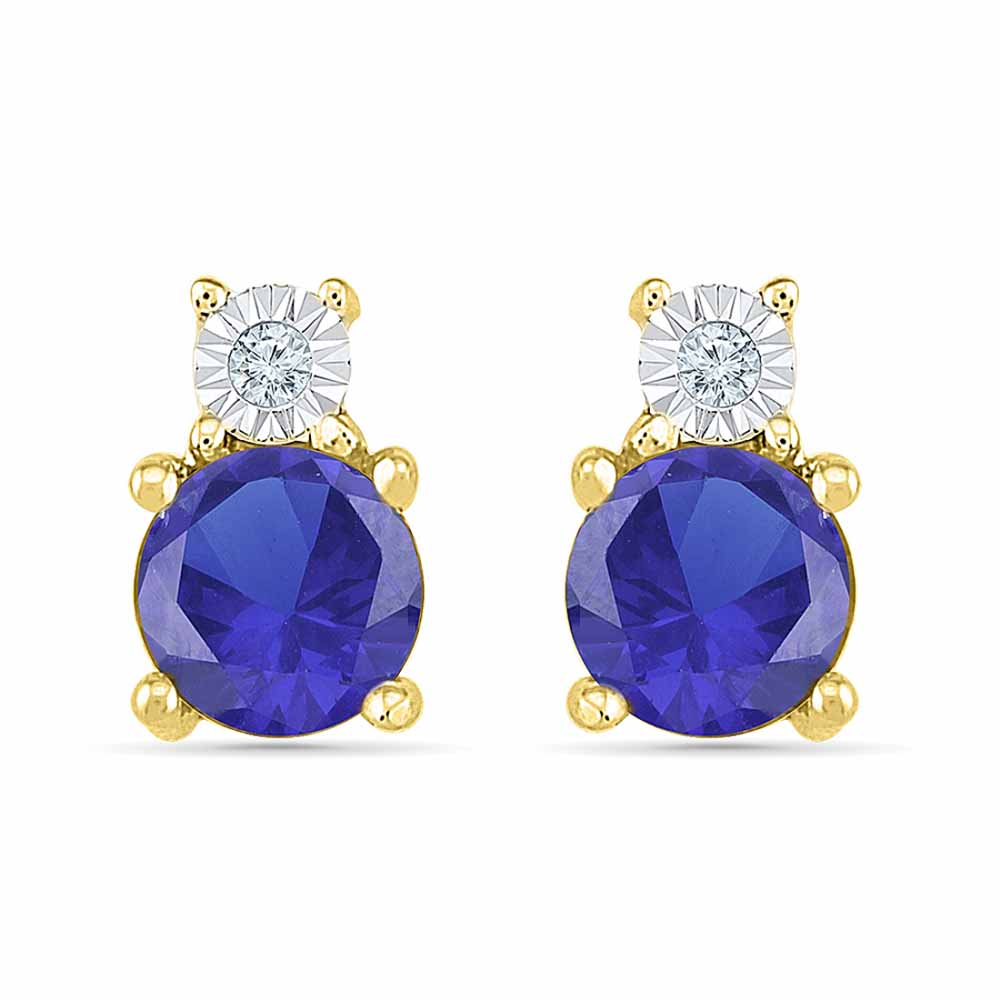 Pleasant Blue Sapphire Earrings