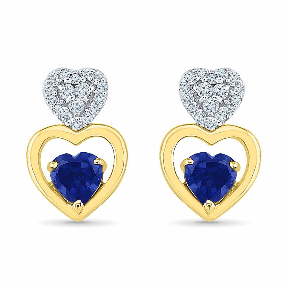 Triple Heart Diamond Earrings