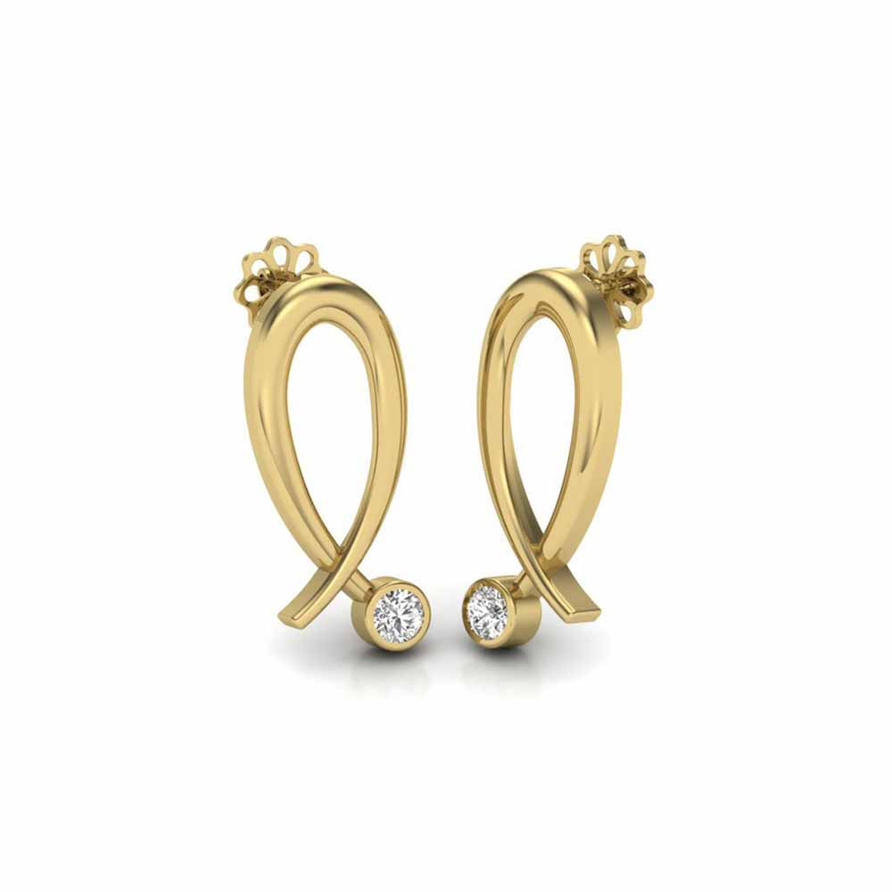 Diamond Earrings-Divya Diamond Earrings