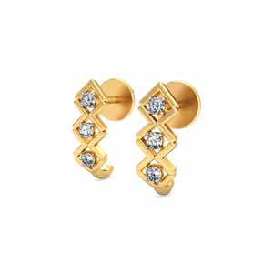 Diamond Earrings-Ruhi Diamond Earrings
