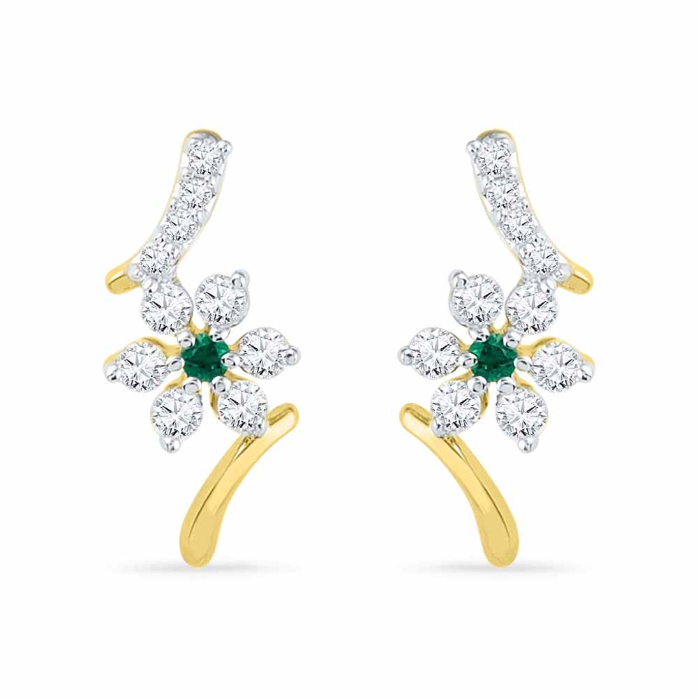 Sparkling Diamond Earrings