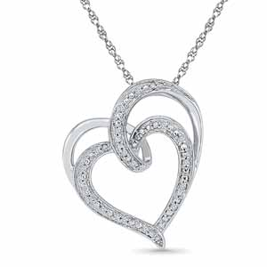 Diamond Pendants-Lovey Diamond Pendent