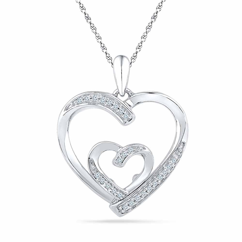 Loveknot Diamond Pendant