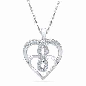 Diamond Pendants-Hottie Heart Diamond Pendant