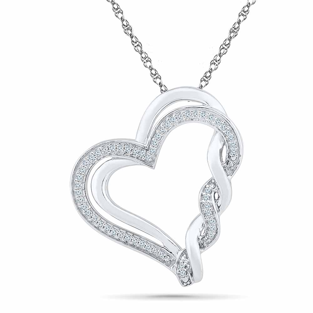 Dashing Heart Diamond Pendent