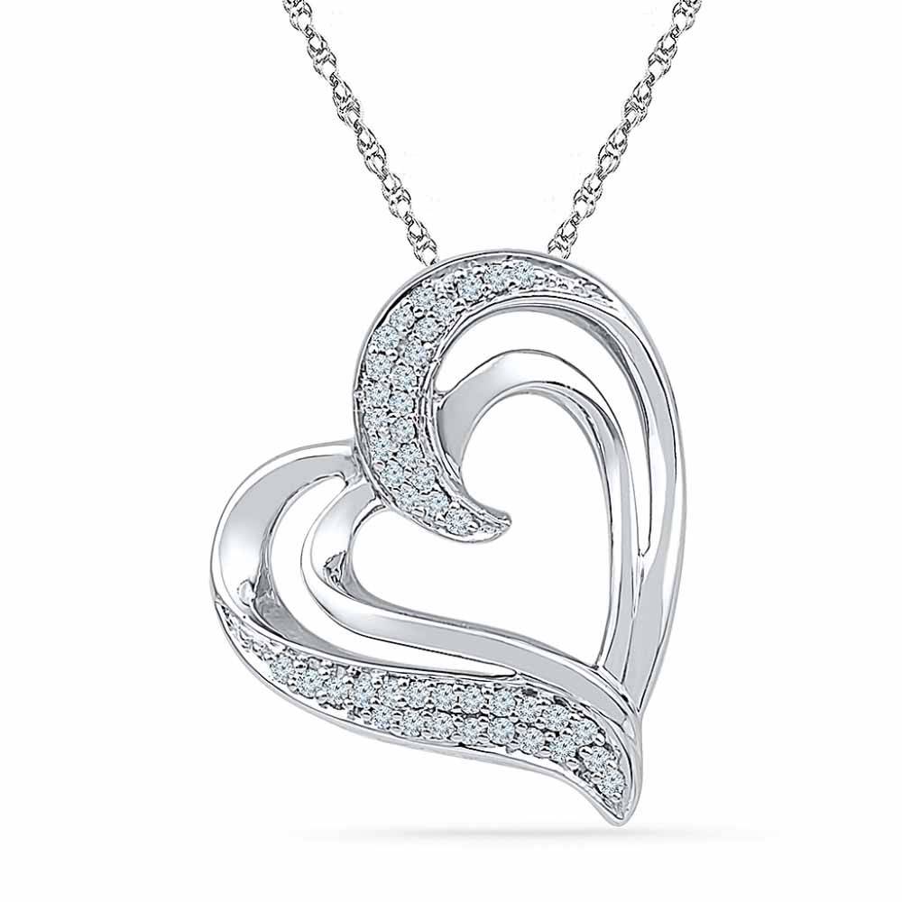 Heart Beat Diamond Pendant