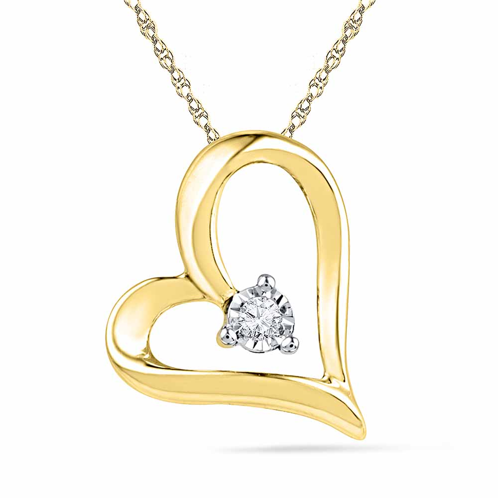 18Kt Gold & Diamond Pendant