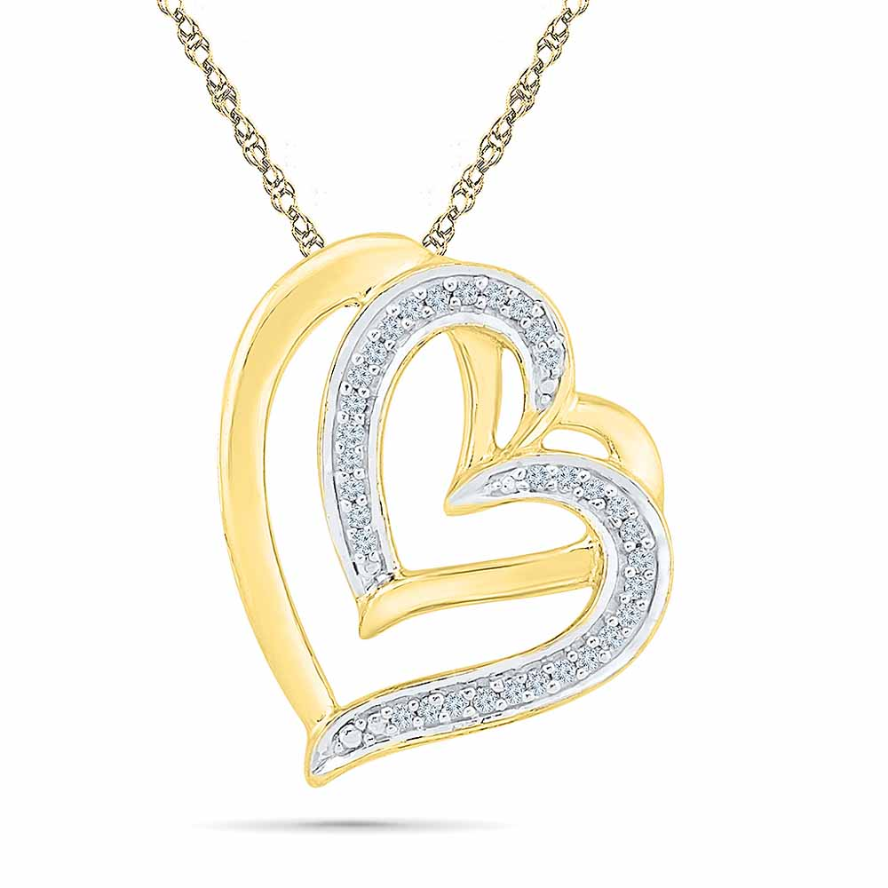 Lucky Heart Diamond Pendant